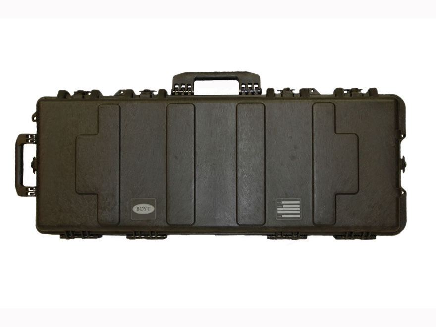"Boyt H41XD Tactical Rifle Case with Solid Foam Insert and Wheels 43"" Polymer Black"
