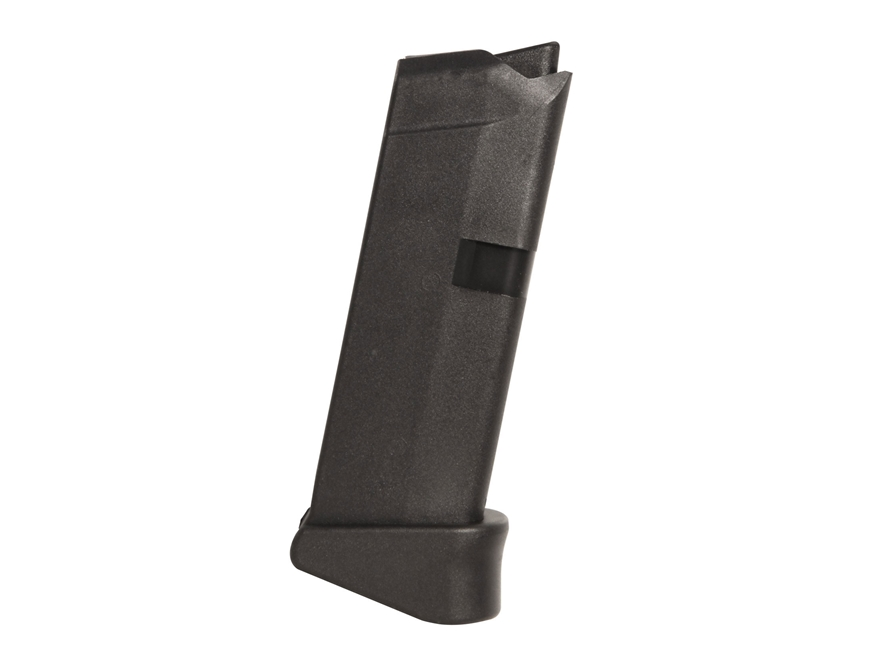 Glock Magazine Glock 43 with Extension 9mm Luger 6-Round Polymer Black