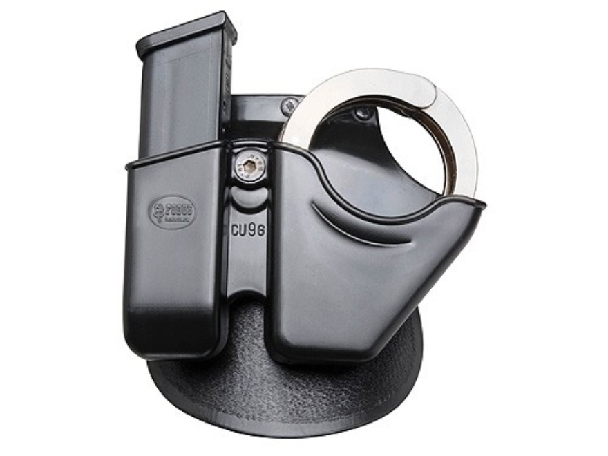 Fobus Paddle Handcuff and Magazine Carrier H&K, Glock, 9mm Luger and 40 S&W Polymer Black