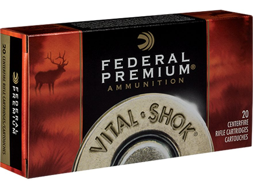 Federal Premium Vital-Shok Ammunition 7mm Remington Magnum 165 Grain Sierra GameKing Bo...