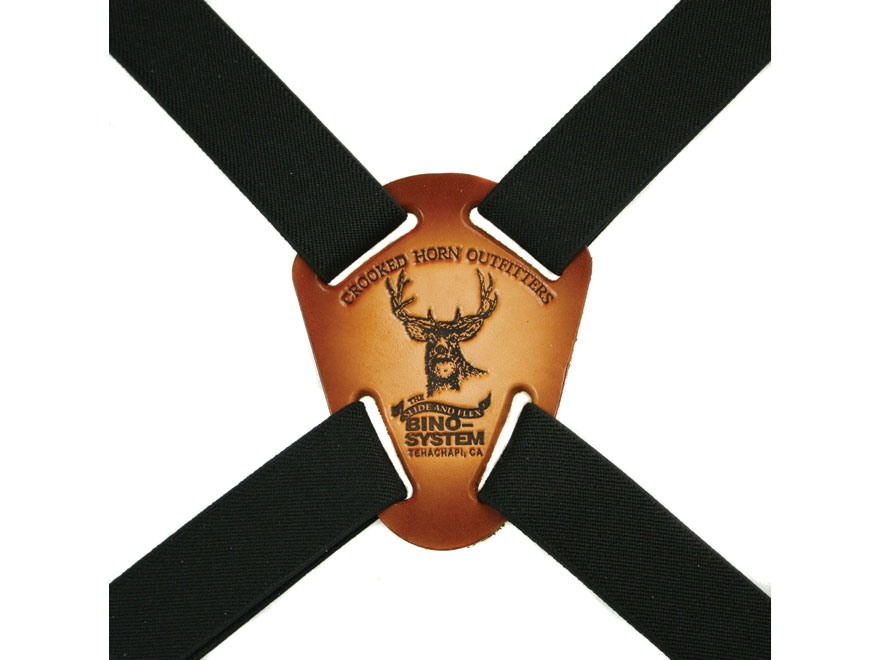 Crooked Horn Slide and Flex Binocular Strap Harness Black