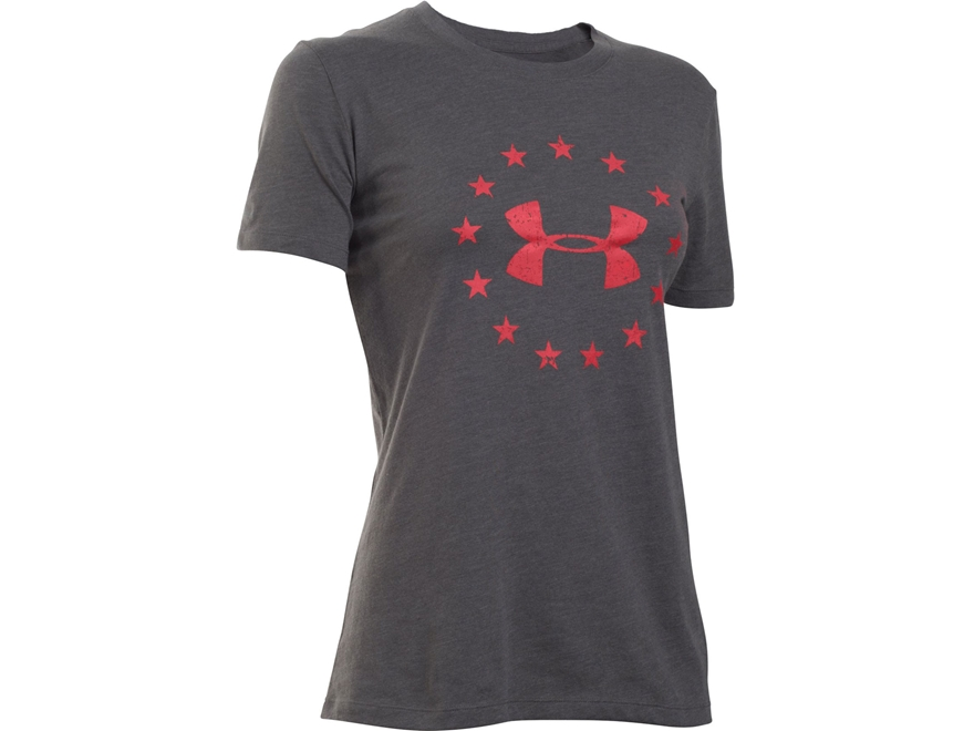 Under Armour Women's UA Freedom Logo T-Shirt Short Sleeve Cotton and Polyester