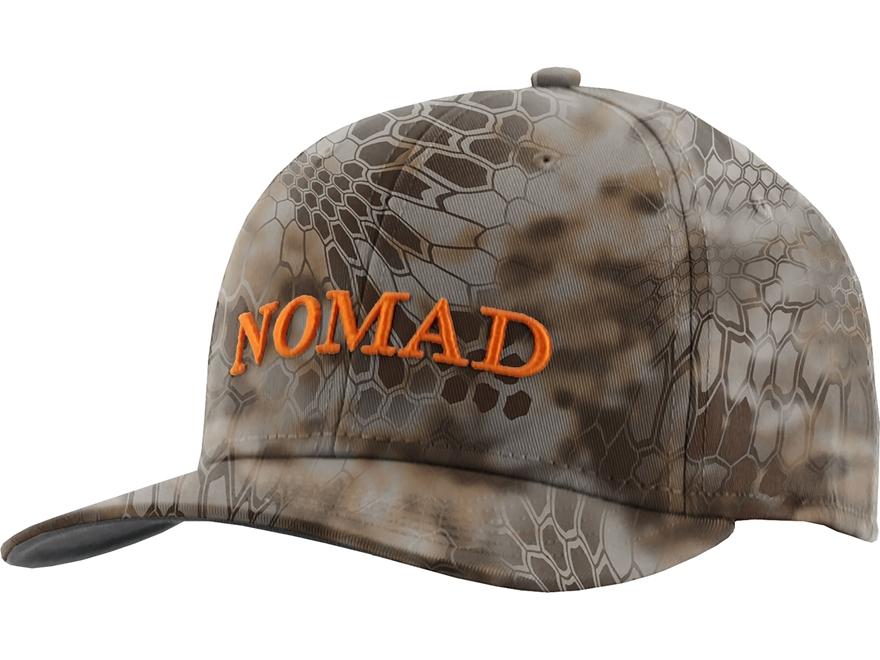 Nomad Camo Full Stretch Logo Cap Polyester