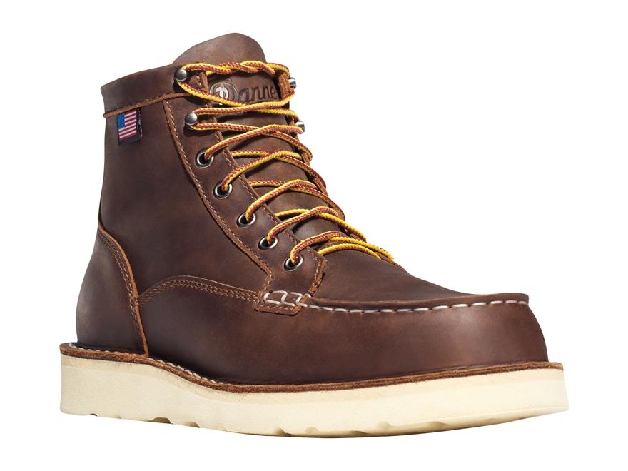 "Danner Bull Run Moc Toe 6"" Work Boots Leather"