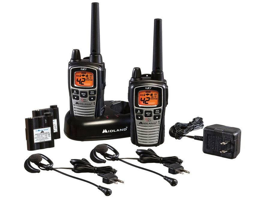 Midland GXT860VP4 Two-Way Radio with NOAA Weather Alert Combo