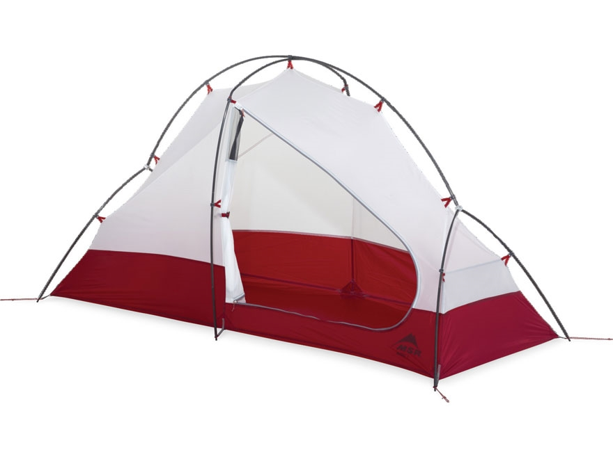 """MSR Access 1 Man Modified Dome Tent 84"""" x 33"""" x 41"""" Nylon and Polyester Red and White"""