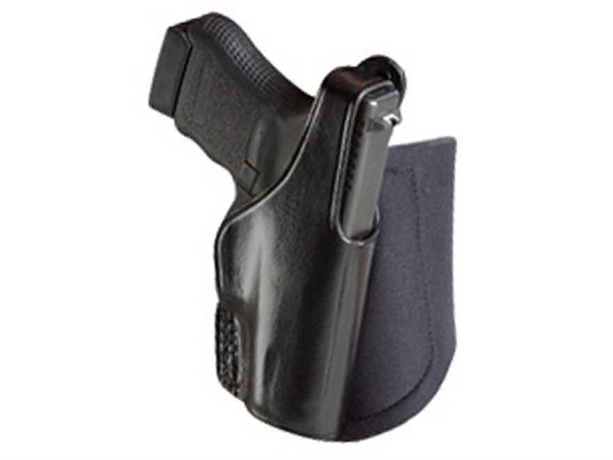 Bianchi 150 Negotiator Ankle Holster Right Hand Glock 26, 27 Leather Black