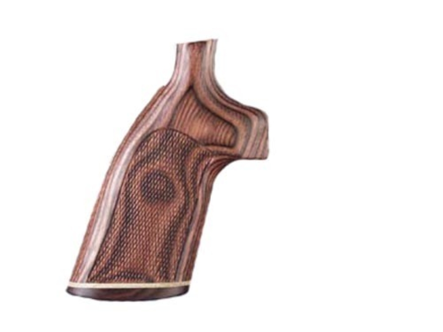 Hogue Fancy Hardwood Grips with Accent Stripe Colt 38 SF-VI Checkered