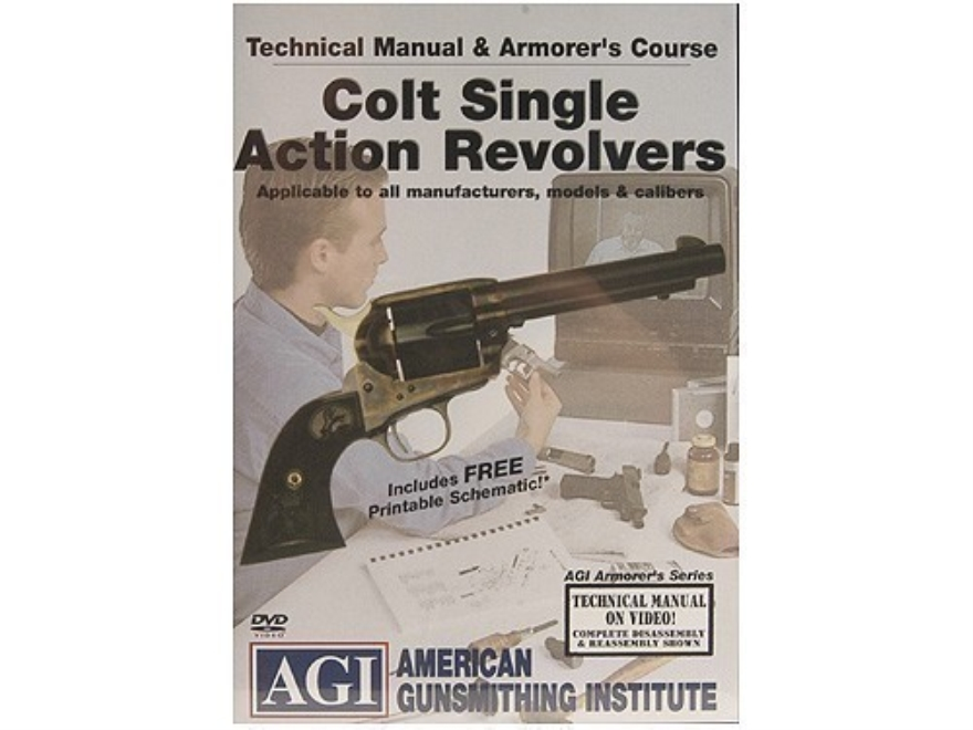 "American Gunsmithing Institute (AGI) Technical Manual & Armorer's Course Video ""Colt Si..."