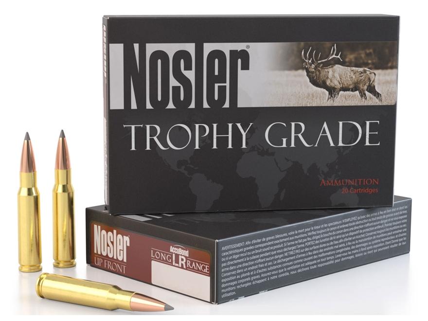Nosler Trophy Grade Ammunition 6.5 Creedmoor 129 Grain Accubond Long Range Box of 20
