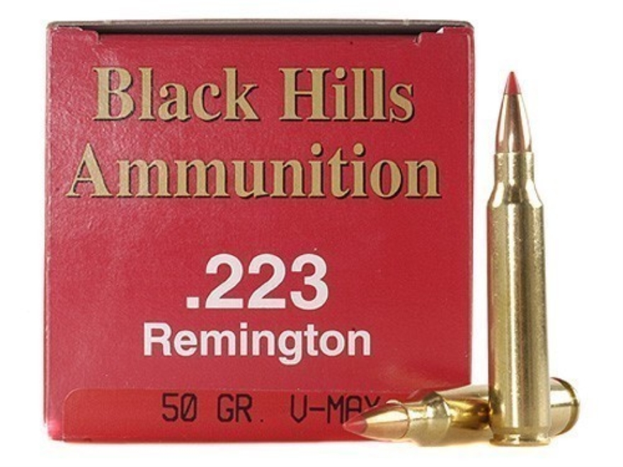 Black Hills Ammunition 223 Remington 50 Grain Hornady V-MAX Box of 50