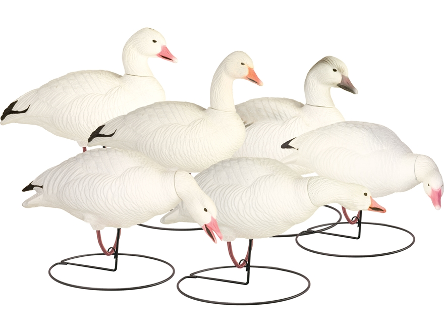 Final Approach Last Pass HD Outfitter Pack Full Body Snow Goose Decoy Pack of 6