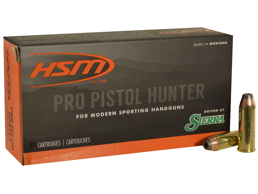 HSM Pro Pistol Hunter Ammunition 41 Remington Magnum 210 Grain Sierra Jacketed Hollow P...
