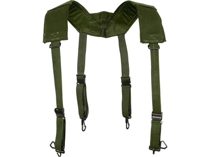 Military Surplus Belgian M56 Field Suspenders Grade 2 Olive Drab