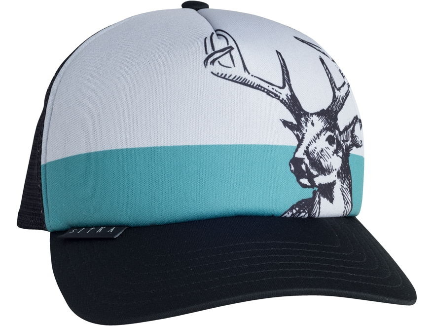Sitka Gear Field Sketch Whitetail Foam Trucker Hat Polyester Sitka Black One Size Fits All