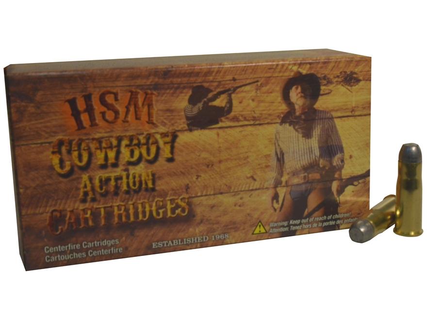 HSM Cowboy Action Ammunition 38-40 WCF 180 Grain Soft Cast Round Nose Flat Point Box of 50