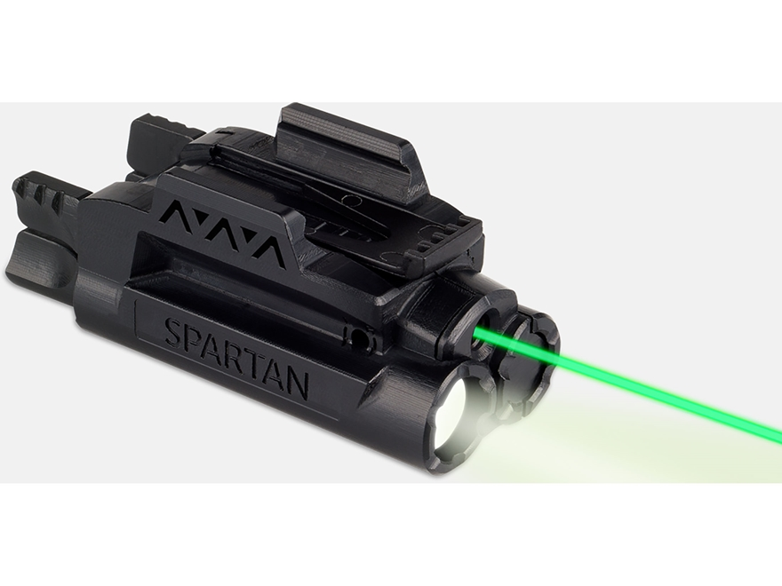 LaserMax Spartan Weapon Light Mint Green LED with Laser Sight Picatinny-Style Rail Moun...