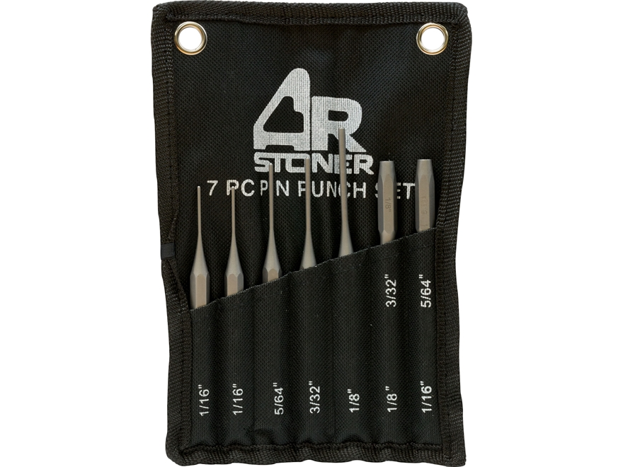 AR-Stoner AR-15 Roll Pin Punch Set 7-Piece Steel