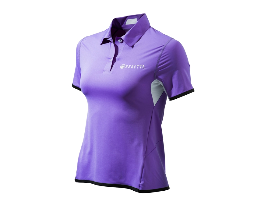 Beretta Women's Hi-Tech Performance Polo Shirt Short Sleeve Polyester Blend