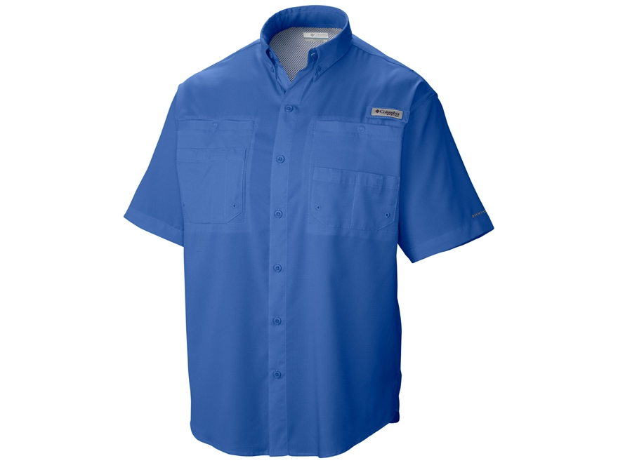 Columbia Men's Tamiami II Button-Up Shirt Short Sleeve Polyester