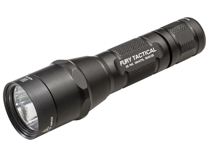 Surefire P2X Fury Tactical Flashlight LED with 2 CR123A Batteries Aluminum Black