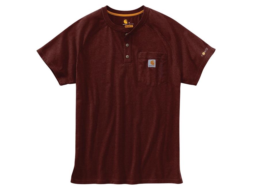 Carhartt Men's Force Delmont Henley T-Shirt Short Sleeve