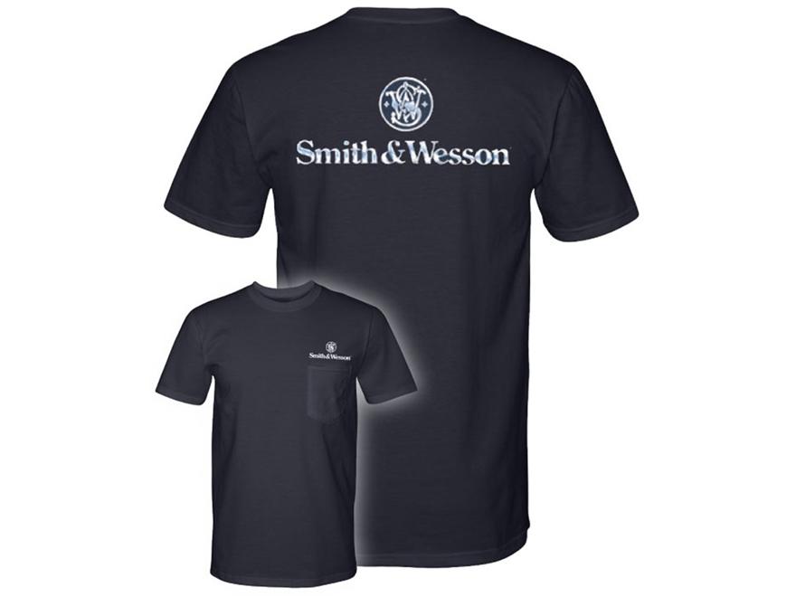 Smith & Wesson Men's Chrome Logo T-Shirt Short Sleeve Cotton