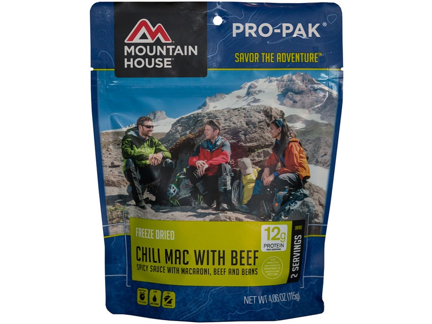 Mountain House 2 Serving Chili Mac with Beef Freeze Dried Food Pro-Pak 4.06 oz
