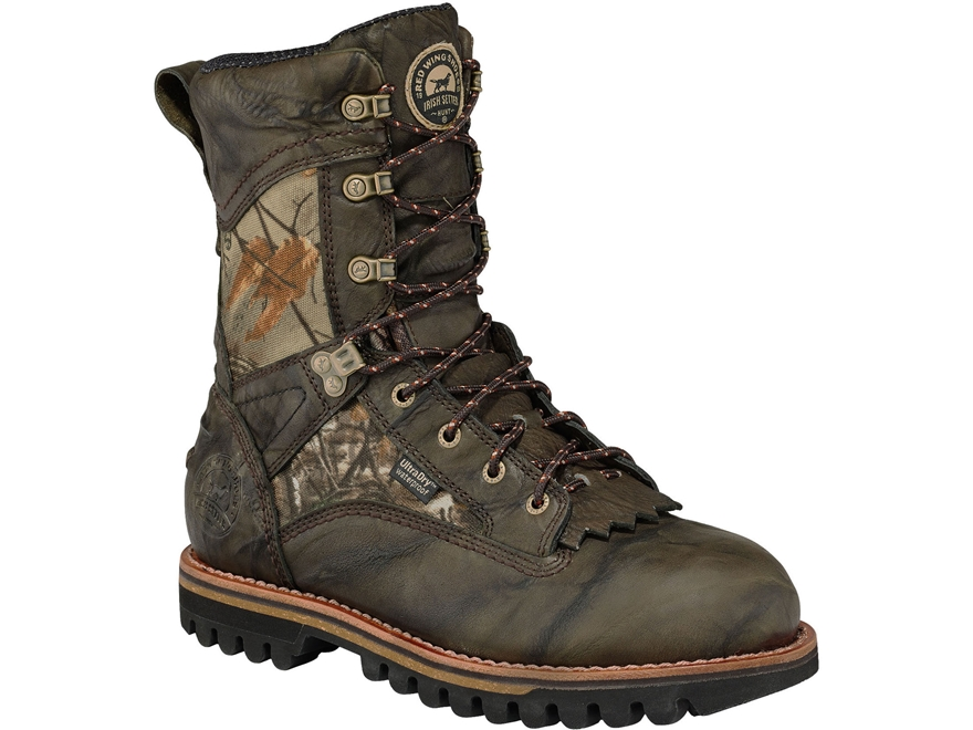 "Irish Setter Elk Tracker 10"" Waterproof 400 Gram Insulated Hunting Boots Leather Realtr..."
