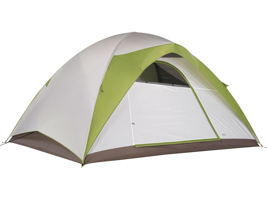 "Kelty Yellowstone 8 8 Person Dome Tent 148"" x 108"" x 80"" Polyester White and Lime Green"