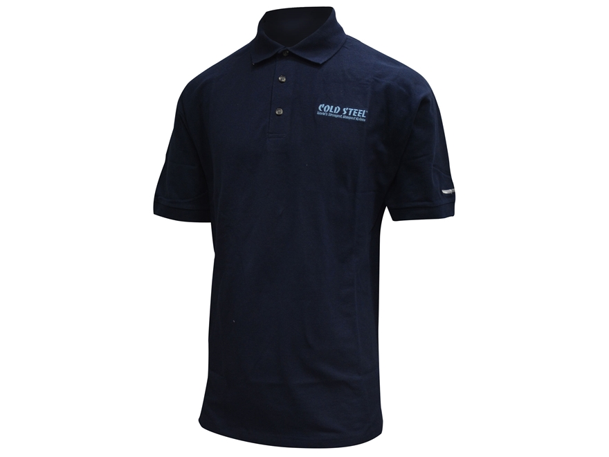 Cold Steel Logo Polo Shirt Short Sleeve Cotton