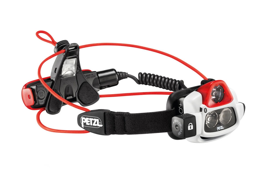 Petzl NAO+ Reactive Lighting Bluetooth Headlamp LED with Rechargeable Li-Ion Battery Po...