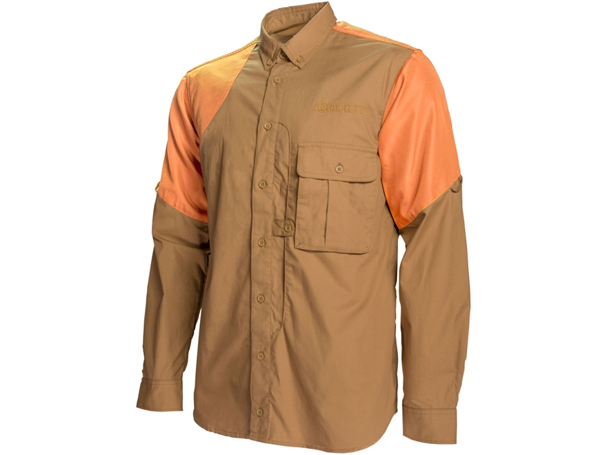 Beretta Men's American Upland Front Load Shooting Shirt Polyester/Nylon