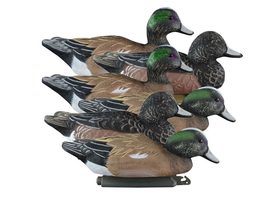 Higdon Standard Foam Filled Wigeon Duck Decoy Polymer Pack of 6