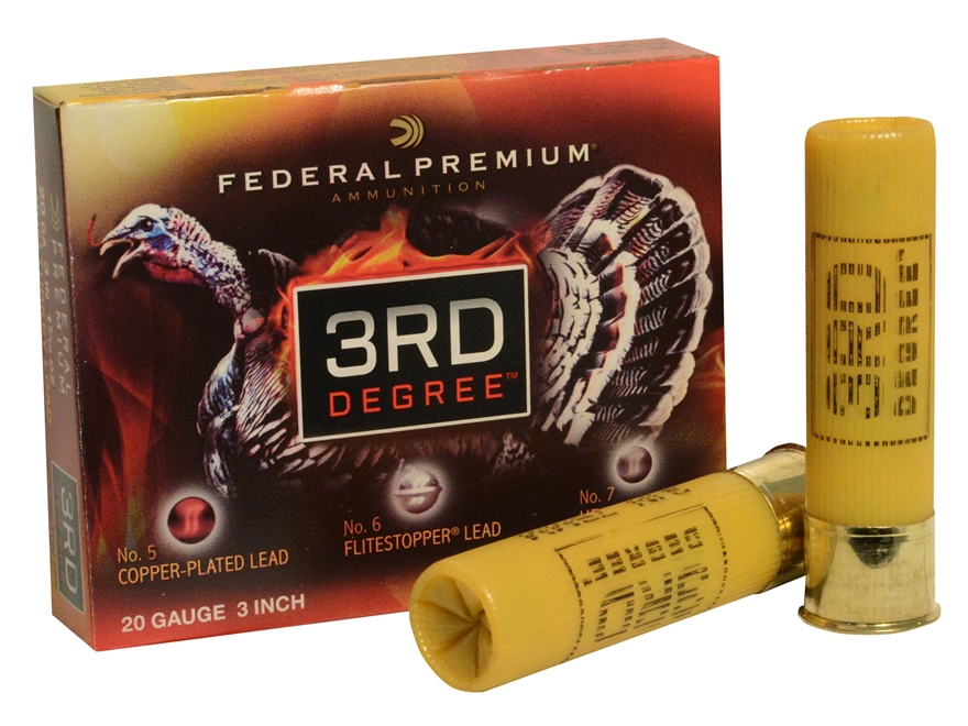 "Federal Premium 3rd Degree Turkey Ammunition 20 Gauge 3"" 1-7/16 oz #5, #6, and #7 Multi..."