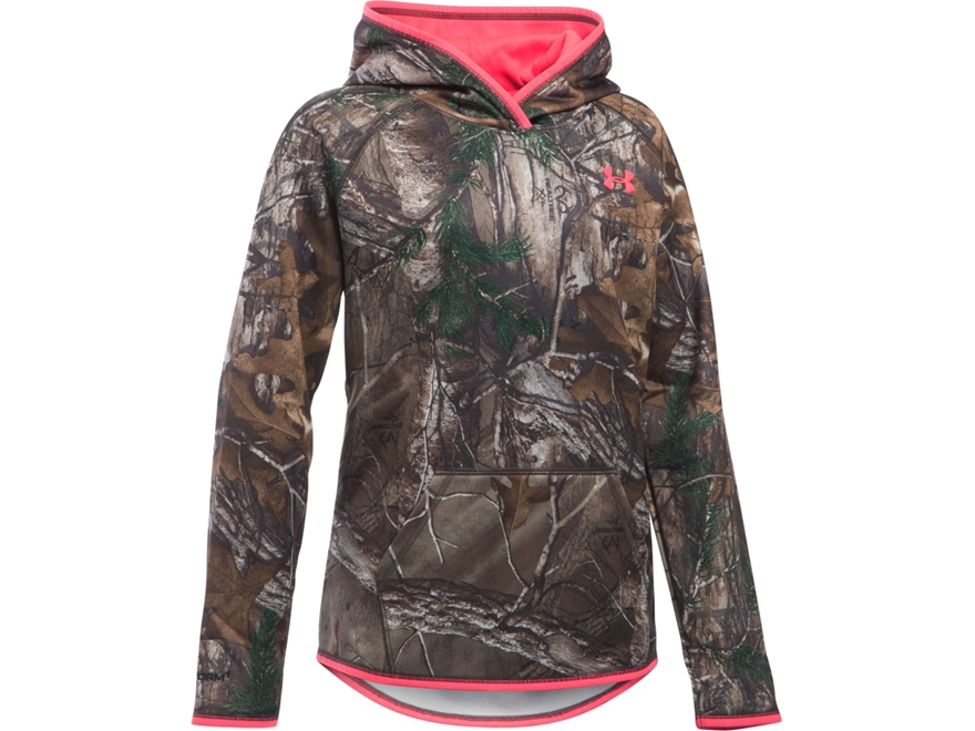 Under Armour Girl's UA Camo Logo Hoodie Polyester