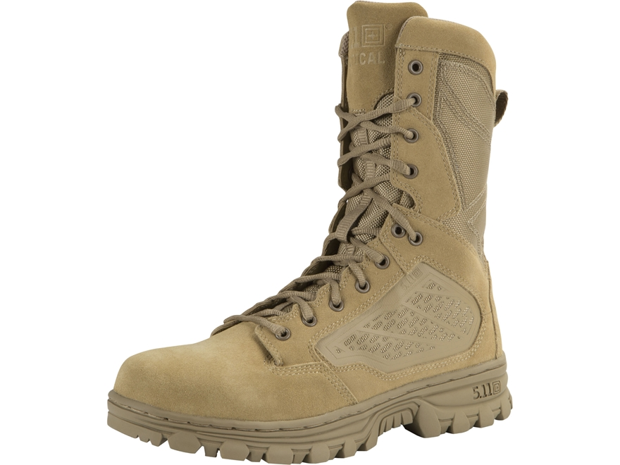 "5.11 EVO 8"" Desert Side Zip Waterproof Uninsulated Tactical Boots Leather and Nylon Coy..."