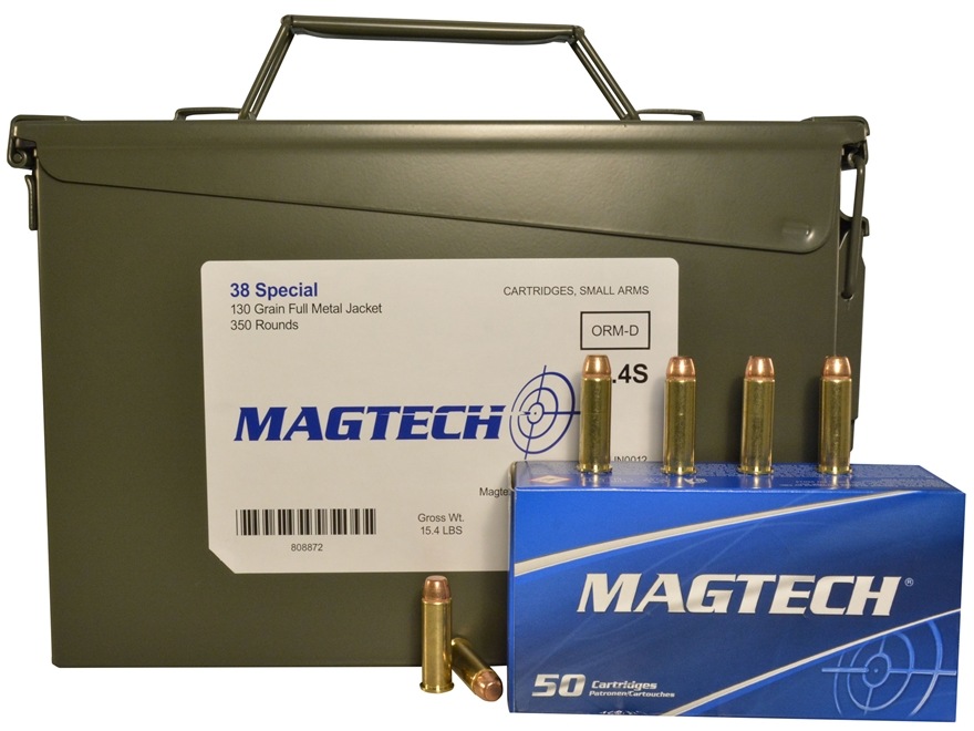 Magtech Sport Ammunition 38 Special 130 Grain Full Metal Jacket Ammo Can of 350 (7 Boxe...