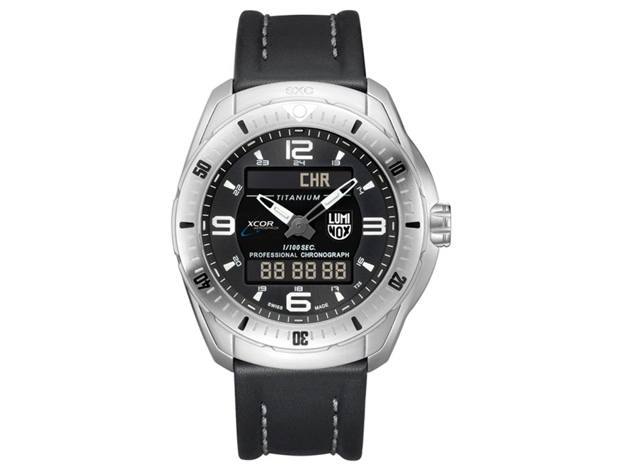 Luminox XCOR/SXC Pilot Professsional Analog/Digital Watch Titanium/Leather Black