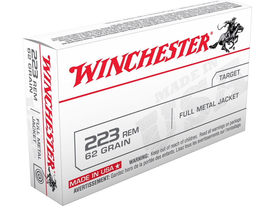 Winchester USA Ammunition 223 Remington 62 Grain Full Metal Jacket