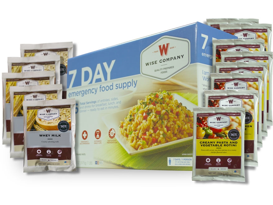 Wise Food 7 Day Emergency Food Supply Freeze Dried Food Kit