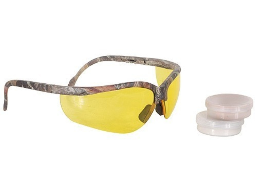Radians Hunter's Kit Mossy Oak Camo Shooting Glasses Amber Lens with Tan Custom Molded ...