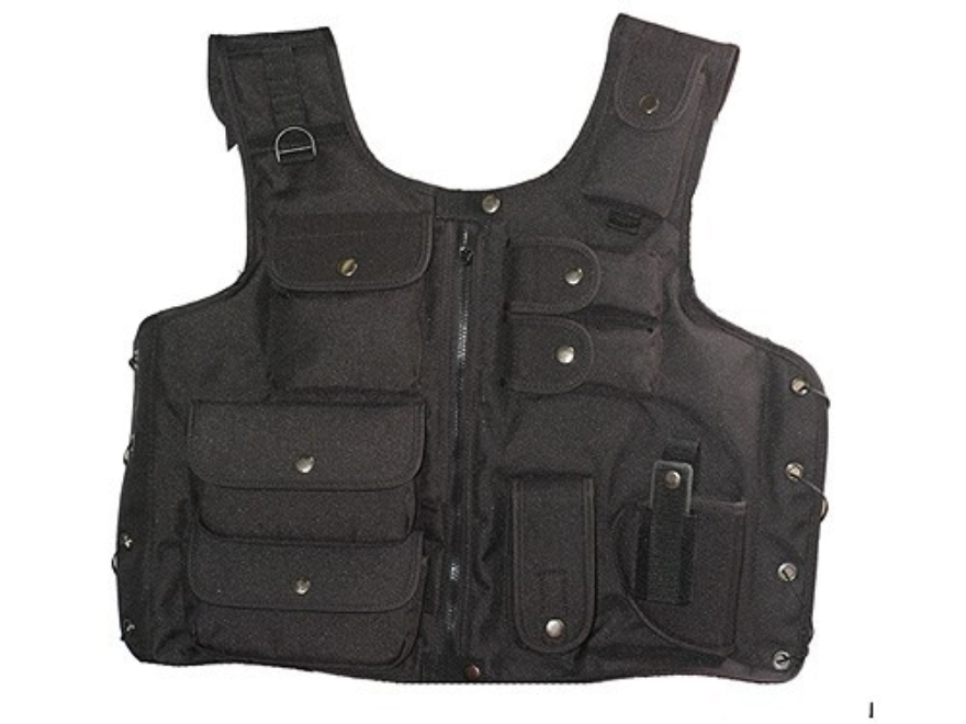 Hunter Tactical Vest One Size Fits Most Nylon Black