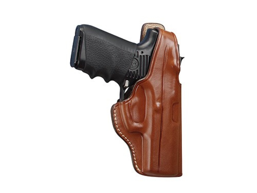 Hunter 5000 Pro-Hide High Ride Holster Right Hand Glock 29. 30, 39 Leather Brown