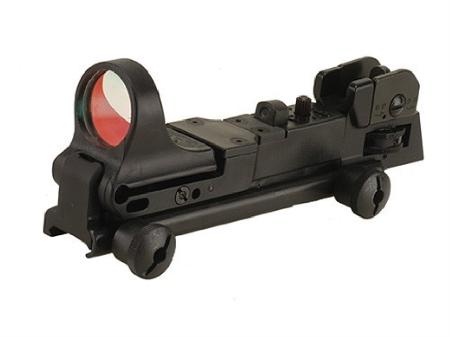 C-More Tactical Reflex Sight 8 MOA Red Dot with Adjustable Rear Sight AR-15 Flat-Top Mo...
