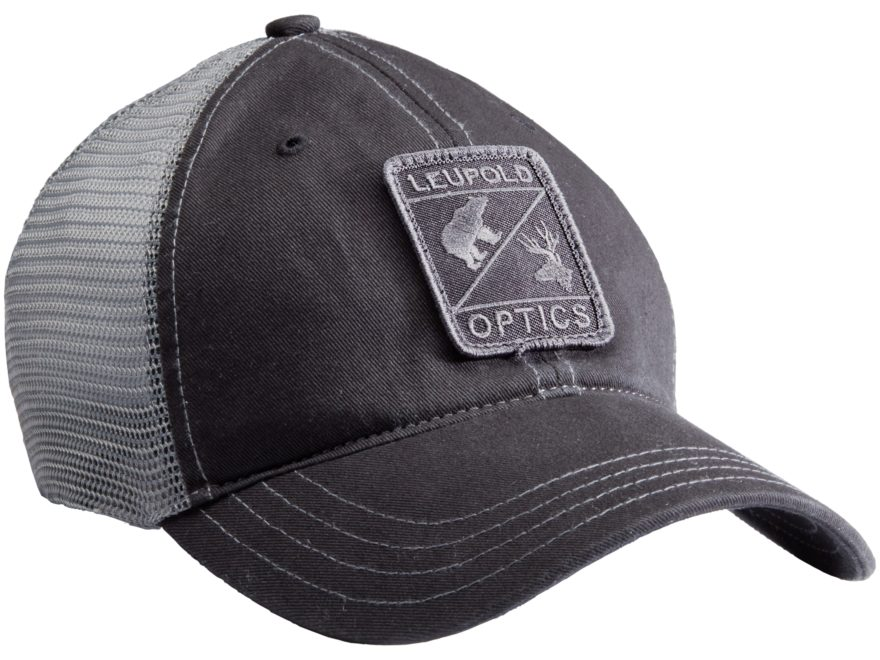 Leupold Optics Unstructured Trucker Hat Polyester Black/Gray
