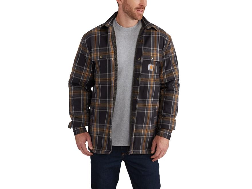 Carhartt Men's Hubbard Sherpa Lined Shirt Jac Cotton