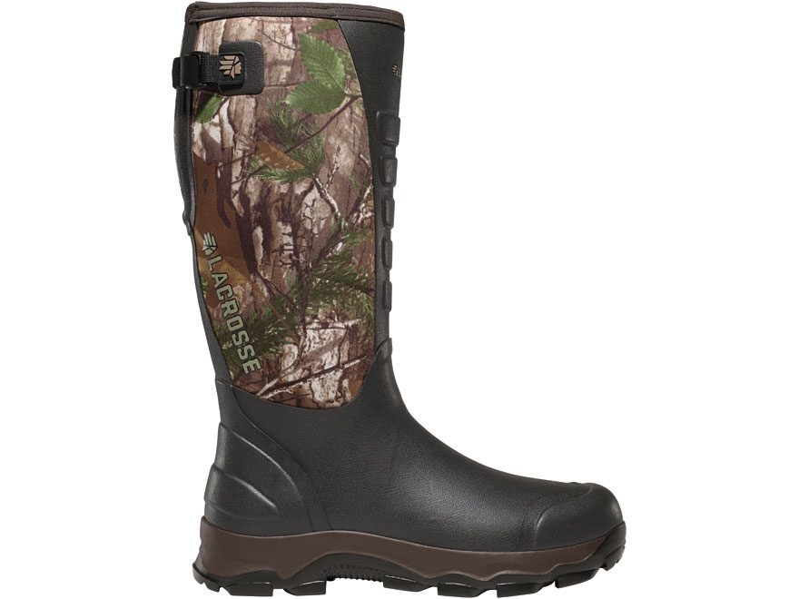 """LaCrosse 3.5mm 4XAlpha 16"""" Waterproof Hunting Boots Hand-Laid Preium Rubber Over Neopre..."""