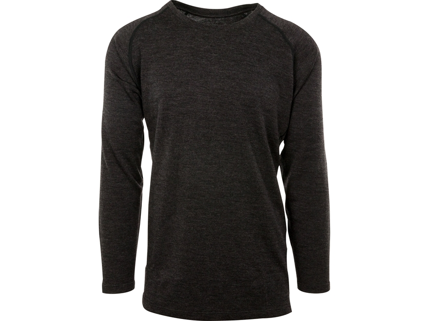 MidwayUSA Men's Mid-Weight Merino Wool Long Sleeve Base Layer Shirt