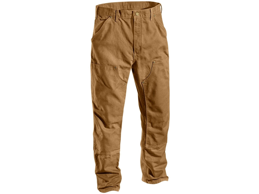 Carhartt Men's Firm Duck Double Front Work Dungaree Pants Cotton